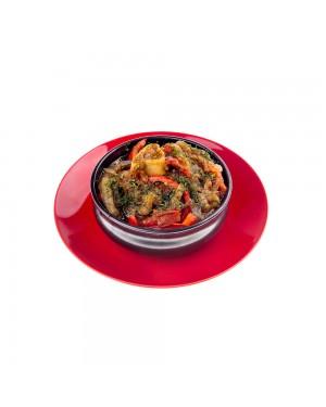 Топла агнешка кавърма със зеленчуци
