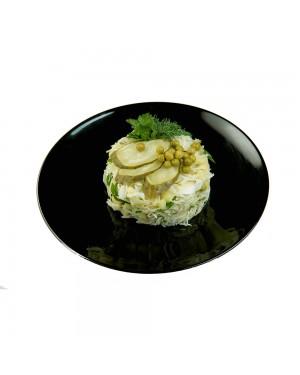Картофельна салата с кисело зеле